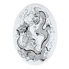 Dragon Lady Oval Ornament
