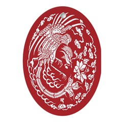 Red Dragon Oval Ornament