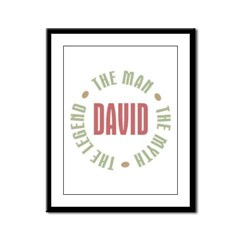 David Man Myth Legend Framed Panel Print
