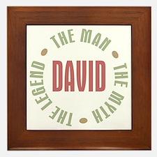 David Man Myth Legend Framed Tile