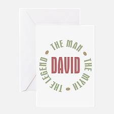 David Man Myth Legend Greeting Card