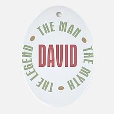 David Man Myth Legend Oval Ornament