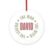 David Man Myth Legend Ornament (Round)