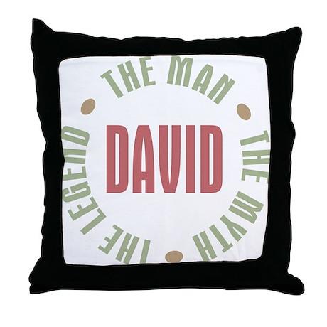 David Man Myth Legend Throw Pillow