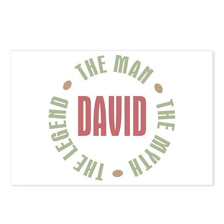 David Man Myth Legend Postcards (Package of 8)