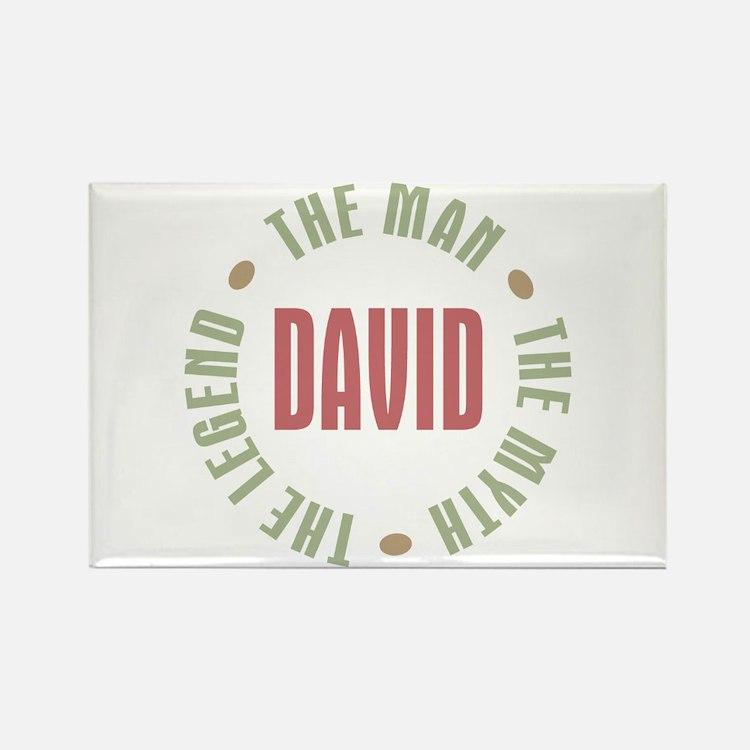 David Man Myth Legend Rectangle Magnet