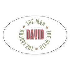 David Man Myth Legend Oval Decal