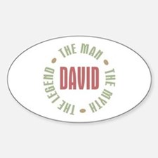 David Man Myth Legend Oval Decal
