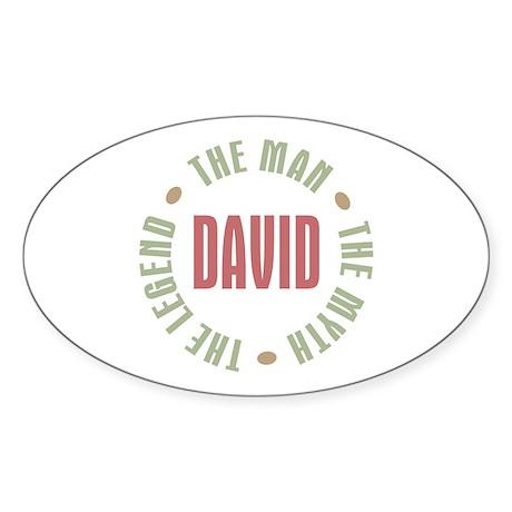 David Man Myth Legend Oval Sticker
