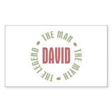 David Man Myth Legend Rectangle Decal