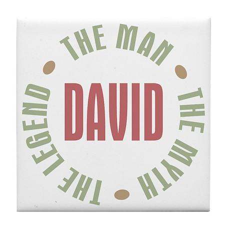 David Man Myth Legend Tile Coaster