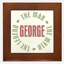 George Man Myth Legend Framed Tile