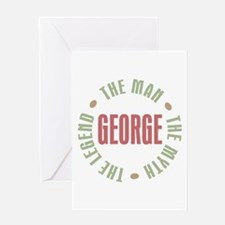 George Man Myth Legend Greeting Card