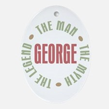 George Man Myth Legend Oval Ornament
