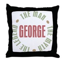 George Man Myth Legend Throw Pillow
