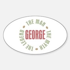 George Man Myth Legend Oval Decal