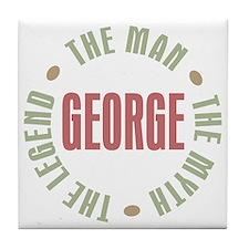 George Man Myth Legend Tile Coaster