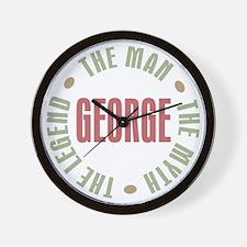 George Man Myth Legend Wall Clock