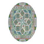 Chinese Floral Oval Ornament