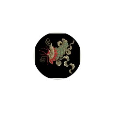 Chinese Luck Dragon Mini Button (10 pack)