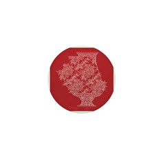 Asian Vase (Red) Mini Button (10 pack)