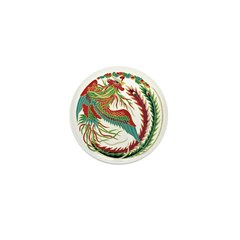 Folkart Rooster Mini Button (10 pack)