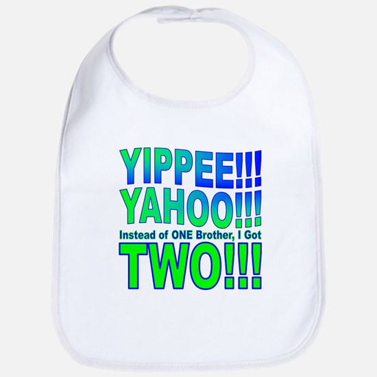 Yippee Twins - Brothers Bib