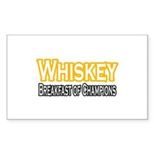 """Whiskey: Breakfast of Champions"" Decal"