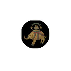 Decorated Asian Elephant Mini Button (10 pack)