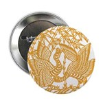 "Wild Birds and Bamboo 2.25"" Button (10 pack)"