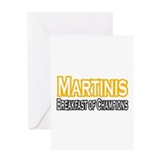 """Martinis. Breakfast..."" Greeting Card"
