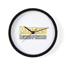 """Martinis. Breakfast..."" Wall Clock"