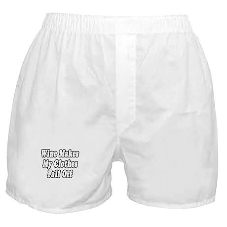 """""""Wine = Naked"""" Boxer Shorts"""