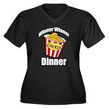 Winner Winner Chicken Women's Plus Size V-Neck Dar