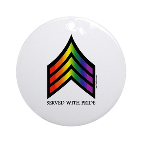 Served With Pride Keepsake (Round)
