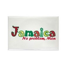 Jamaica No Problem Rectangle Magnet