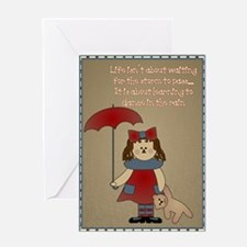 Dance In The Rain Greeting Card