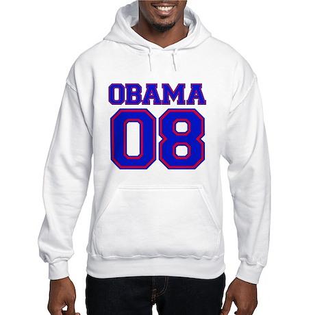 Obama 08 Blue Hooded Sweatshirt