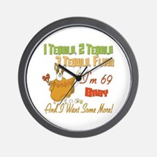Tequila 69th Wall Clock
