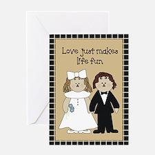 Country Prim Wedding Greeting Card