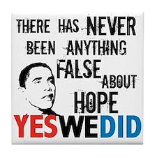 Obama Hope Tile Coaster