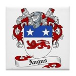 Angus Family Crest Tile Coaster