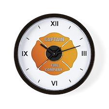 Fire Captain Wall Clock