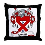Annand Family Crest Throw Pillow