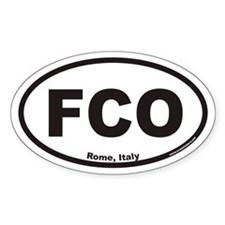 FCO Euro Oval Sticker for Rome Italy