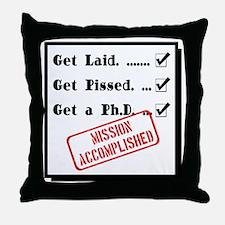 Graduation - Mission Accomplished Throw Pillow