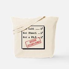Graduation - Mission Accomplished Tote Bag