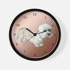 Dandie Dinmont Fault Wall Clock
