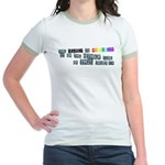 Be Yourself Rainbow 'pride' Jr. Ringer T-Shirt