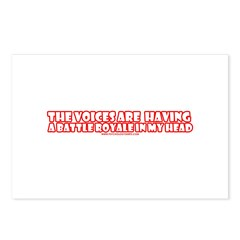 The Voices Are Having a Battl Postcards (Package o